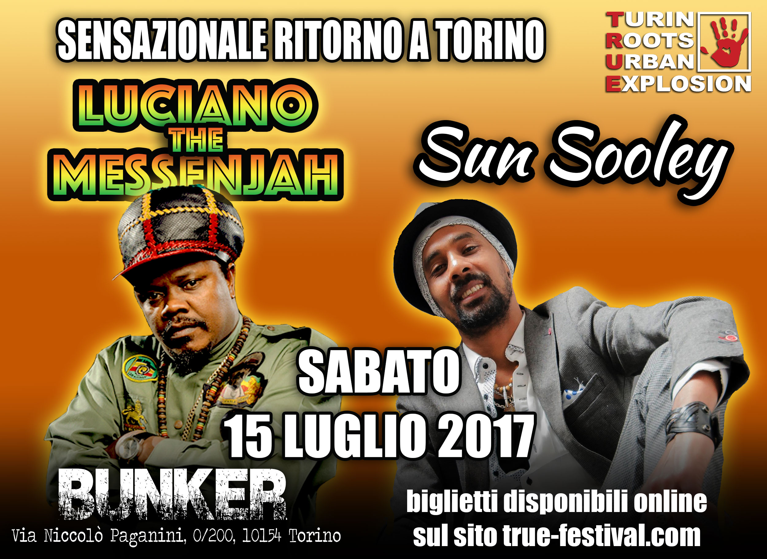 Luciano The Messenjah e Sun Sooley a Torino